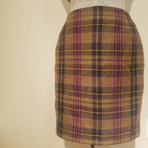 Vintage plaid mini skirt
